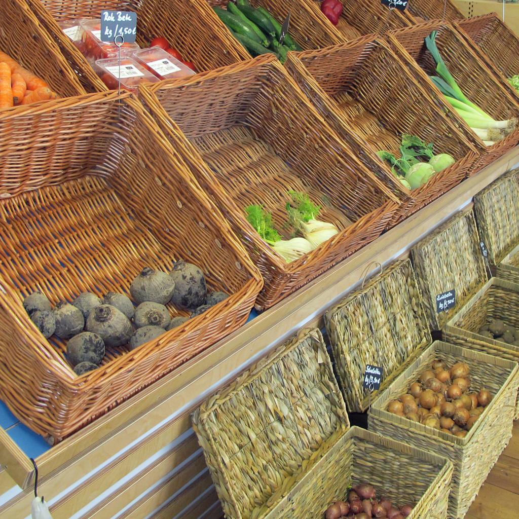 Obst und Gemüse im Rostocker Kostkontor sind Bio, Sachentnahmen.