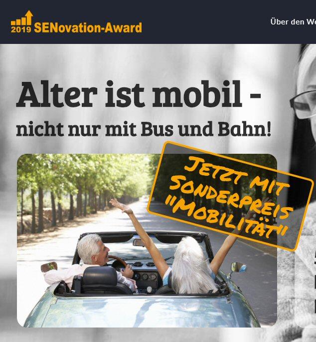 SENovation-Award, Wettbewerb, Senioren