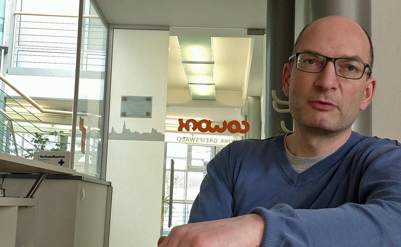 Robert Singelton vom Cowork Greifswald