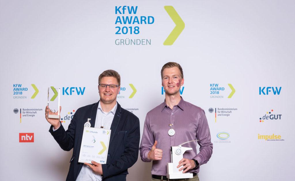 Holten den KfW-Gründer-Award 2018 nach MV: GWA Hygiene. Foto: kfw | Thorsten Futh