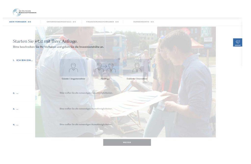 Entwickelt wurde die Plattform im Verband Deutscher Bürgschaftsbanken  (VDB) gemeinsam mit den in jedem Bundesland ansässigen Instituten.  Betreiber des Portals ist die VDB Service GmbH, eine hundertprozentige Tochter des VDB.